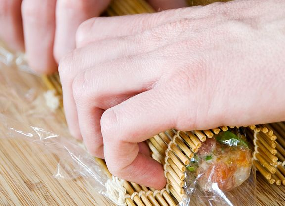 spicy tuna scallop sushi roll recipe | little tried & true eats | Pin ...