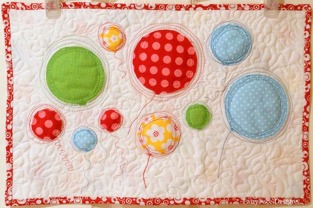 Floating ballons quilt