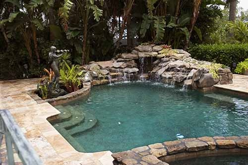 Natural Looking Pool Backyard Luxury Pinterest