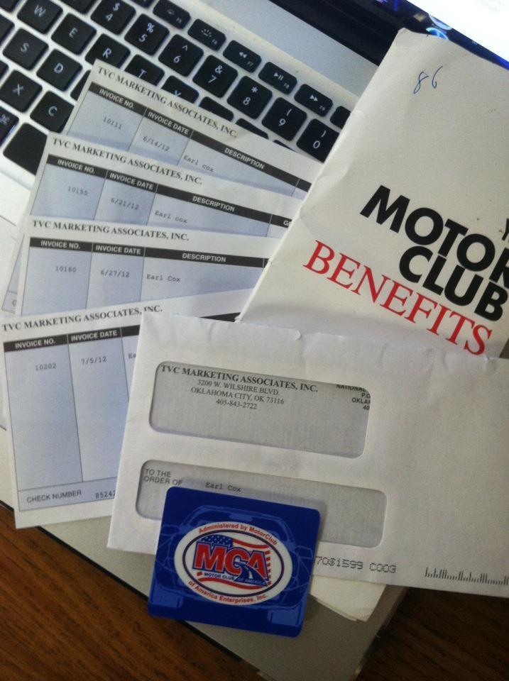 Pinterest for Motor club america scam