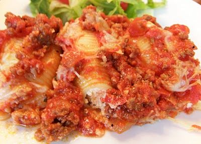 cheese stuffed shells with meat sauce