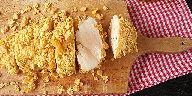 Piletina sa senfom i kukuruznim pahuljicama