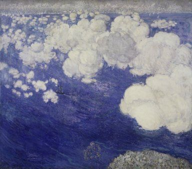 Clouds over the Black Sea, Crimea. Boris Anisfeld, 1906.