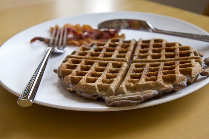 Gluten-Free Blue Cornmeal Waffles (can be dairy-free, too!)