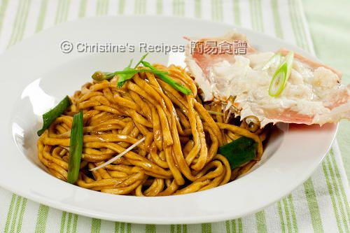 Crab Meat with E-Fu Noodles in Oyster Sauce | Recipe