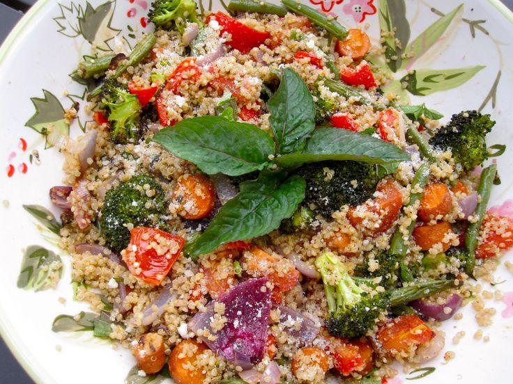 Roasted Vegetable Quinoa Salad | Koken: Groenten, salades, veggie en ...