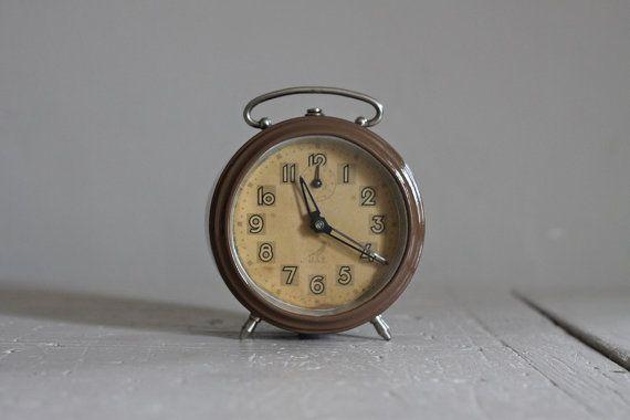Unusual Vintage French Jaz Alarm Clock Vintage Loft Decor