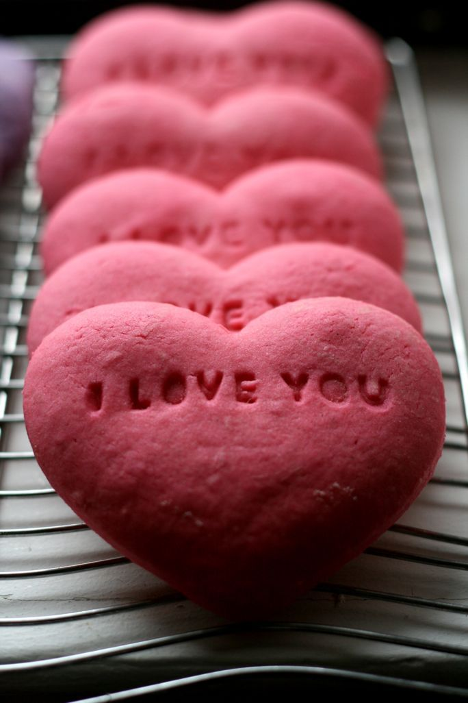 Conversation Heart Sugar Cookies | Shit for army care packages | Pint ...
