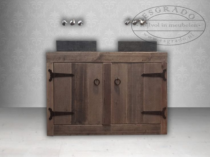 badkamermeubel van steigerhout  Mooie meubelen van steigerhout  Pin… # Esgrado Wasbak_224758