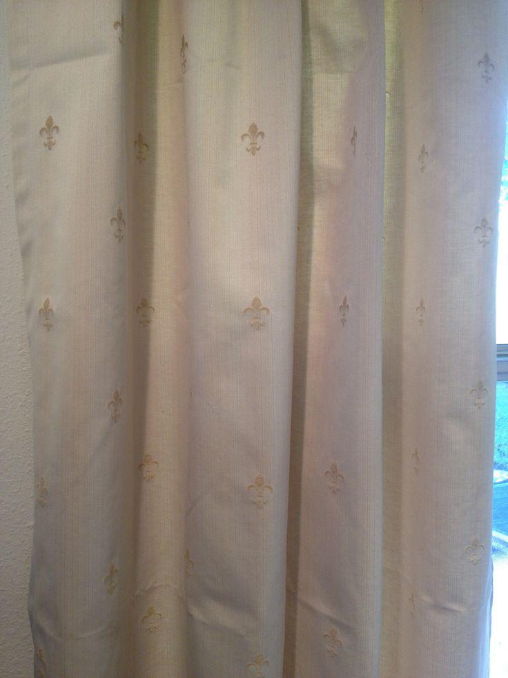 Fleur De Lis Curtains | New Orleans Home | Pinterest