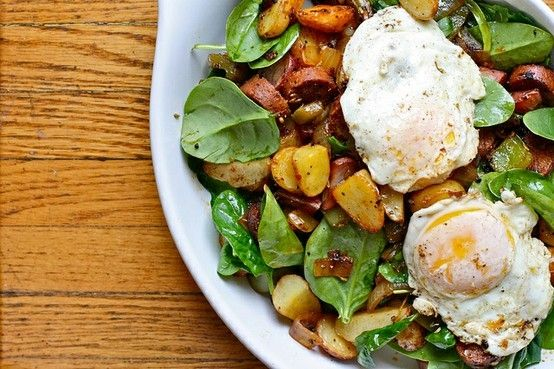 Spinach and Potato Breakfast Hash | Breakfast of Champions | Pinterest