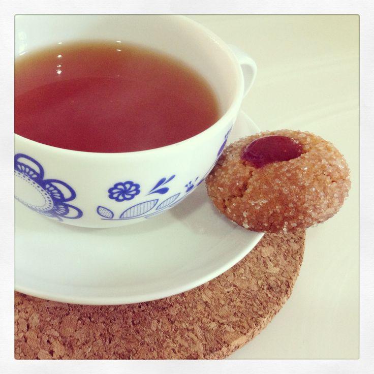 Peanut butter and jam thumbprint cookie | Beautiful food! | Pinterest