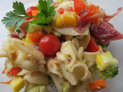 Tortellini Salad with Spicy Salami and Mustard Vinaigrette on More ...
