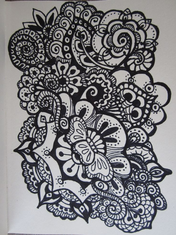 Doodle Flower Bloem Made By Me Doodles Pinterest