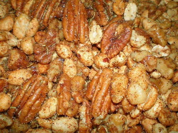 Savory Spiced Nuts | Dips and party food | Pinterest