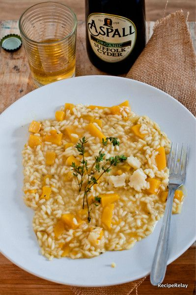 Butternut Cider Risotto with Lancashire Cheese by Valeria Necchio