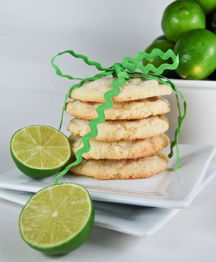 Chewy Lime Sugar Cookies | Delicious Cookies | Pinterest
