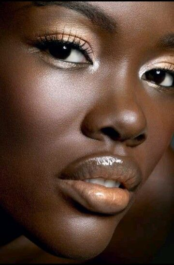 Dark  black. African  Pinterest skin makeup american dark african  Love,   skin makeup for American