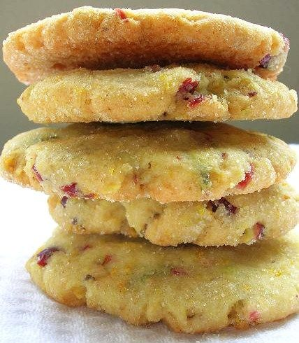 Dried Cranberry, Orange & Pistachio Sugar Cookies