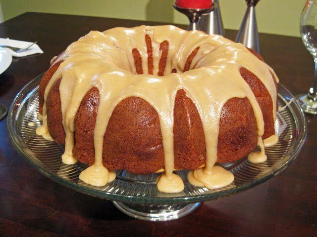 hint of honey: Apple Cinnamon Bundt Cake with Butterscotch Glaze