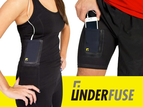 Iron on pocket for your phone, keys,mp3 player etc.! Iron it to any piece of workout clothing and be hands free while you workout. Awesome idea!