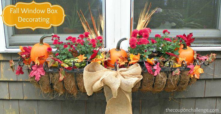 Elegant Fall Window Box Decorating #FlowersforWindowBoxes