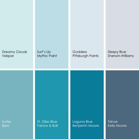 Shades of Blue | Paint colors 2 | Pinterest