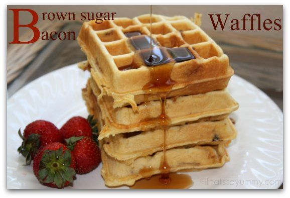 Brown Sugar Bacon Waffles - Made these for supper and they are divine!