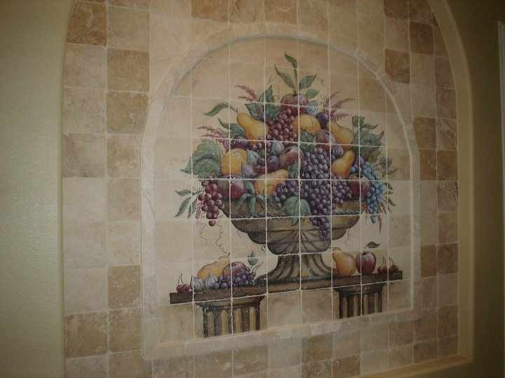 Custom mural custom tile work pinterest for Custom mural tiles