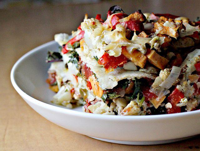 Stacked Roasted Vegetable Enchiladas by eatswellwithothers #Enchiladas ...
