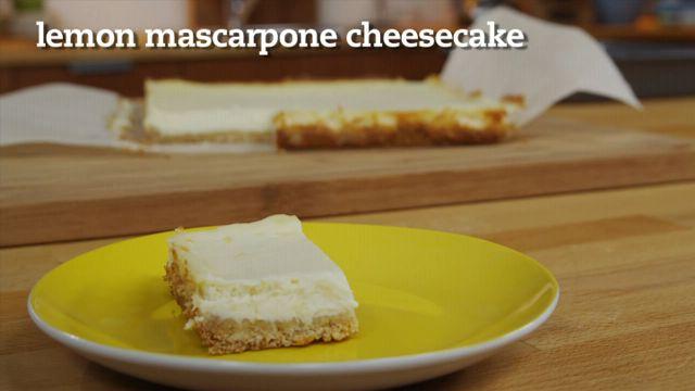 Lemon Mascarpone Cheesecake Recipe | .:: Best Italian Recipes ::. | P ...