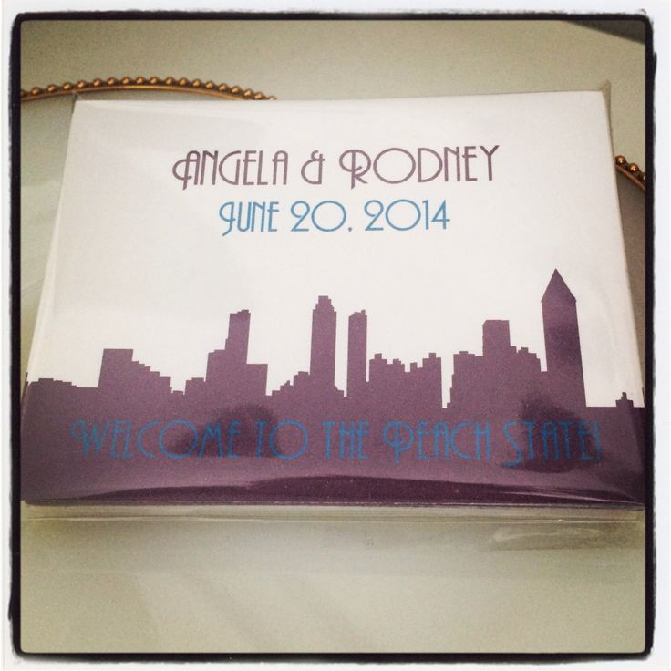Atlanta Wedding Gift Bag Ideas : Set of 50 Wedding Stickers for Gifts, Favors or Welcome Bags with Cit ...