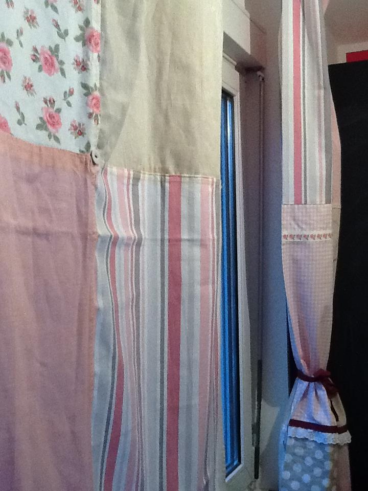 Kitchen curtains made from tea towels sew what pinterest - Kitchen curtains pinterest ...