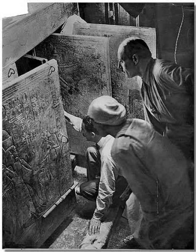 Howard Carter Opens the Shrine of Tutankhamun