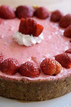 No bake Strawberry lime pie | Vegan Yumminess | Pinterest