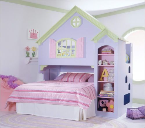 Dollhouse Loft Bunk Bed With Stairs