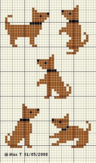 Knitting Pattern Dog Motif : Dog Cross Stitch Pattern Crafts Pinterest