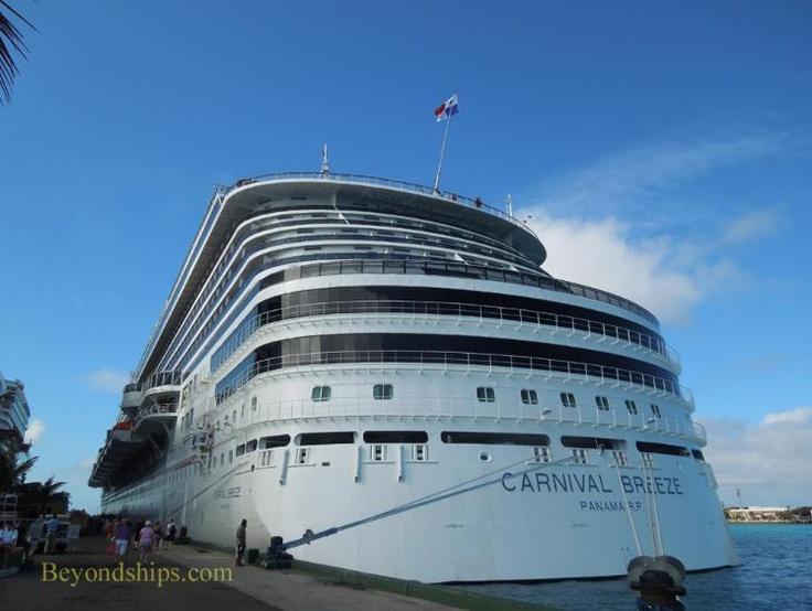 Carnival Breeze Cruise Ship  Carnival Breeze  Pinterest