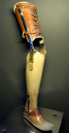 This prosthetic was worn by a German WW2 veteran who lost his leg in Stalingrad.