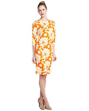 McLaughlin 'Sage' Lobster Olana Print Ruched Dress