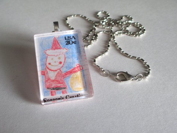 ... 1984 Santa Child's Drawing Season's Greeting 20 Cent Postage