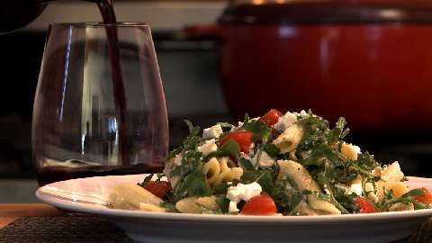 Goat Cheese and Arugula Over Penne Allrecipes.com