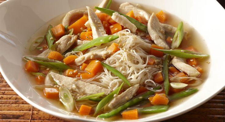 Sesame Ginger Chicken Noodle Soup Recipe | McCormick
