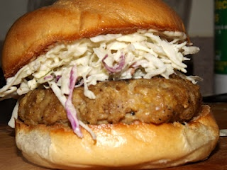 Asian Chicken Burgers with Wasabi Coleslaw