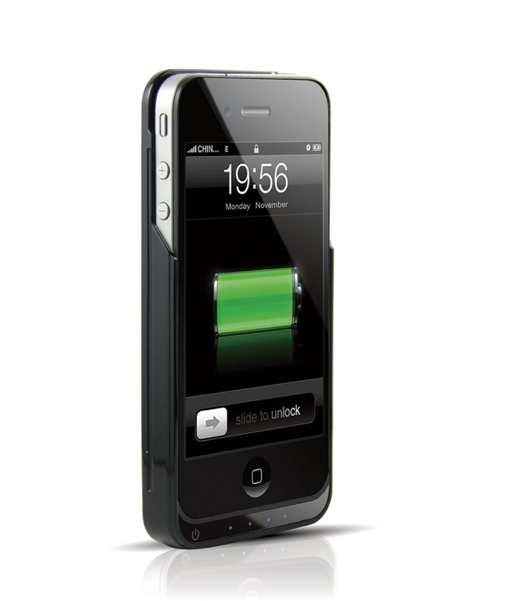 Jaquette Batterie Cuir Slip On iFANS 1450mAh pour iPhone 4/4S (Noir)
