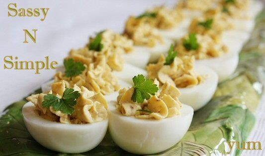 BACON-BALSAMIC DEVILED EGGS | YUMMO | Pinterest