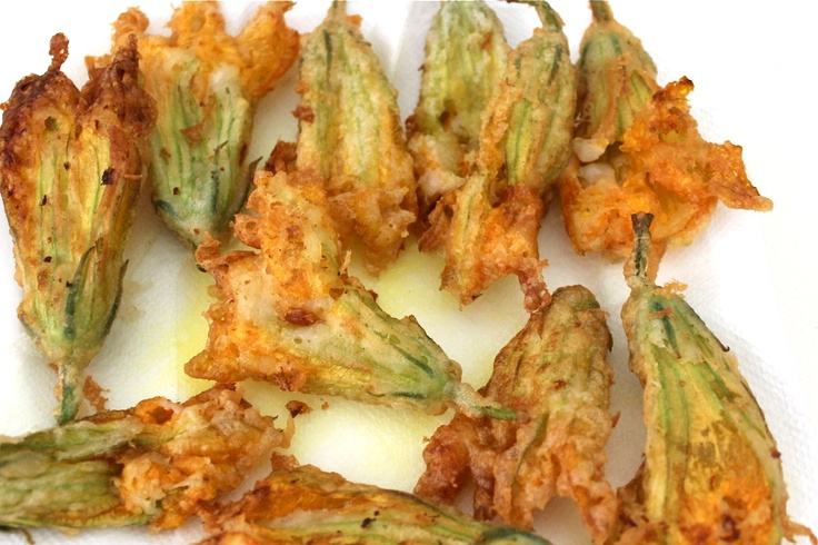 Fried Zucchini Blossoms. | Party Foods | Pinterest