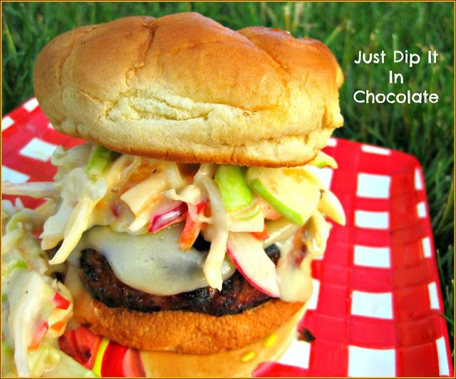... In Chocolate: Apple and Sage Pork Burgers with Green Apple Slaw Recipe