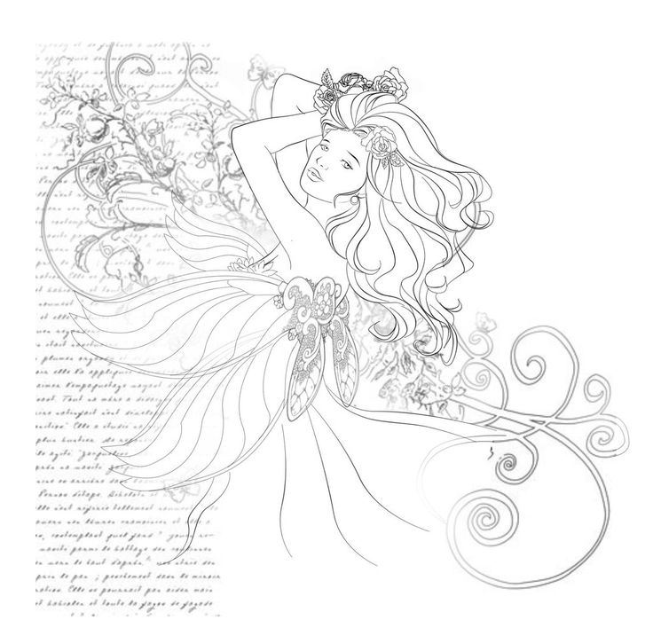 Fairy Color Pages For Adults
