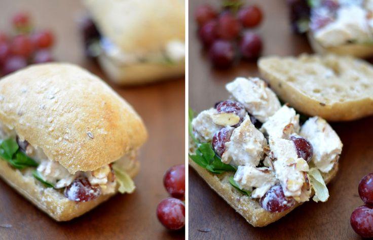 Greek Yogurt Chicken Salad Sandwich ... Decrease grapes and nuts, skip ...